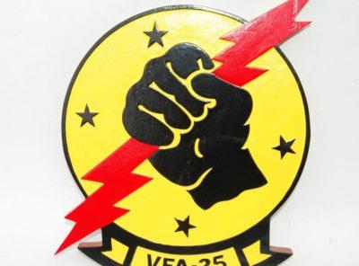 "VFA-25 ""Fist of the Fleet"" Plaque"