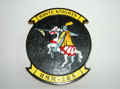 HMM-165 White Knights Plaque