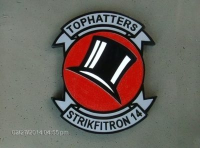 VFA-14 Tophatters Plaque