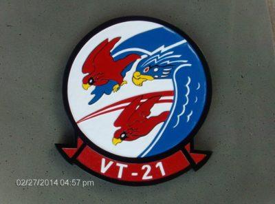 VT-21 Red Hawks Plaque