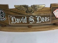 NFO Carved Nameplate (Any Name, Any Unit)