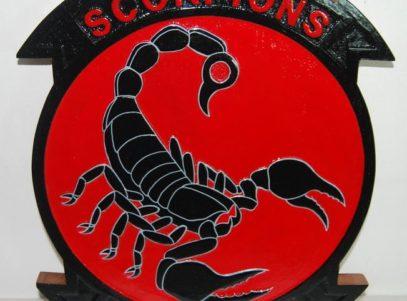 HSM-49 Scorpions Plaque