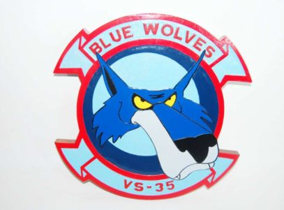 VS-35 Blue Wolves Plaque
