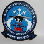 F-35 Joint Strike Fighter plaque
