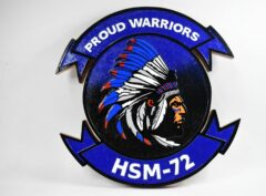 HSM-72 Proud Warriors Plaque