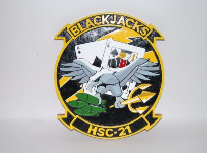 HSC-21 Blackjacks Plaque