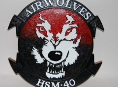 HSM-40 Air Wolves Plaque