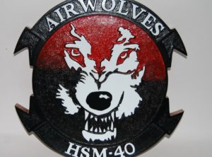 HSM-40 Air Wolves Plaque