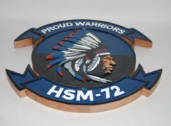 HSM-72 Proud Warriors Plaque