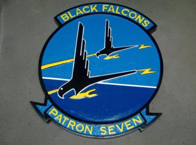 VP-7 Black Falcons Plaque