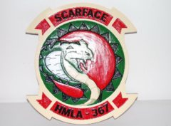 HMLA-367 Scarface Plaque