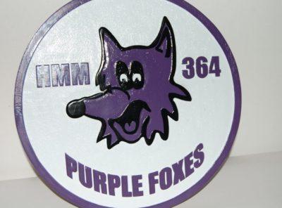 HMM-364 Purple Foxes Plaque