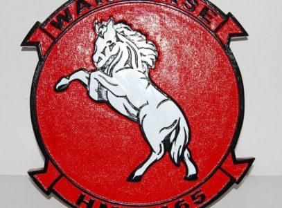 HMH-465 Warhorse Plaque