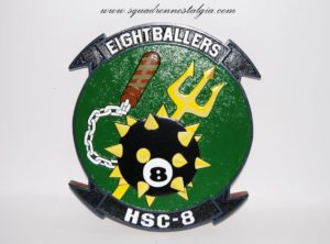 HSC-8 Eightballers Plaque