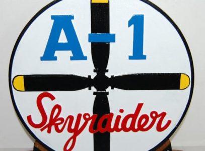 A-1 Skyraider SPAD plaque