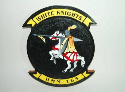HMM-165 White Knights Plaque
