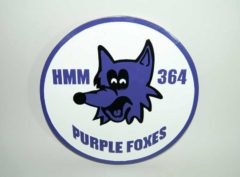 HMM-364 Purple Foxes Plaque