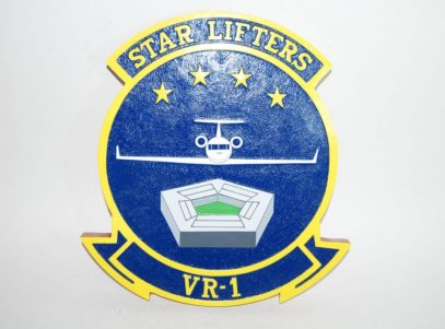 Fleet Logistics Squadron One (VR-1) Starlifters Plaque