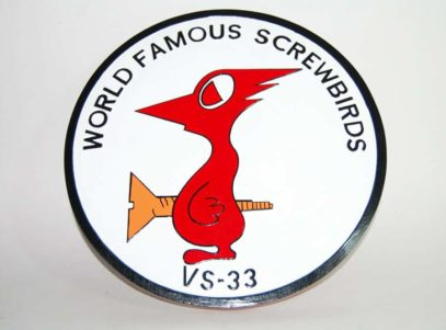 VS-33 Screwbirds Plaque