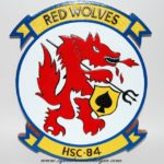 HSC-84 Red Wolves Plaque