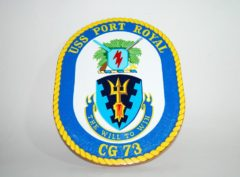 USS Port Royal CG-73 Plaque