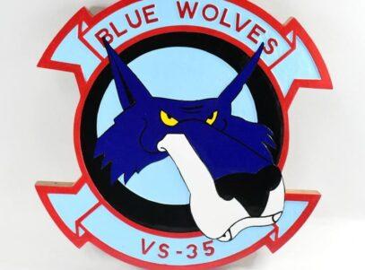 VS-35 Blue Wolves Plaque