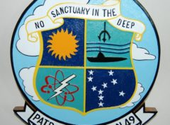 VP-49 'No sanctuary in the deep' Plaque