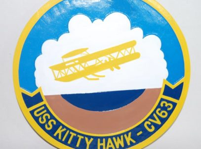 CVN-63 Kitty Hawk Plaque