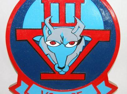 VS-35 Blue Wolves Logo Plaque