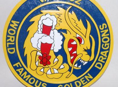 VA-192 World Famous Golden Dragons Plaque