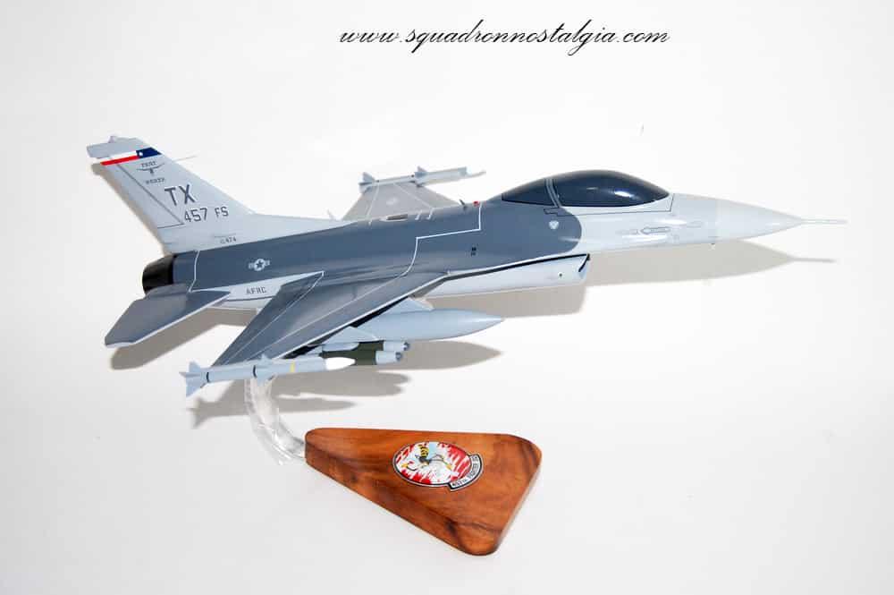 457th Fighter Squadron F-16 Falcon Wooden Model