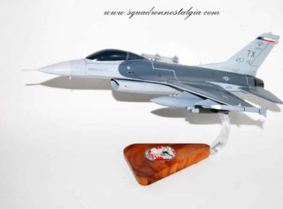 457th Fighter Squadron F-16 Falcon Wooden Model