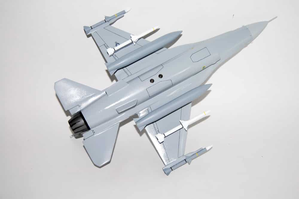 55th Fighter Squadron F-16 Wooden Model