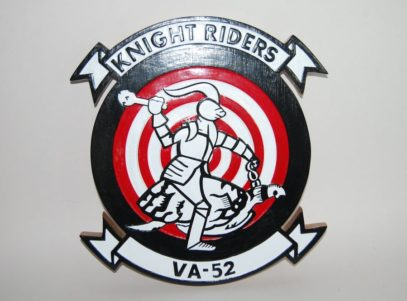 VA-52 Knight Riders Plaque