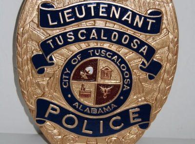 Tuscaloosa Police Dept Lieutenant Badge