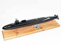 SSGN-727 USS Michigan Submarine Model (Black Hull)