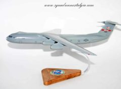 155th Airlift Squadron C-141b Scale Wooden Model