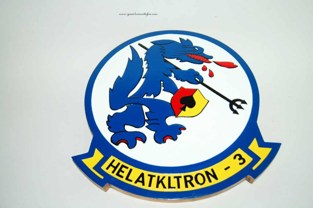 HAL-3 SeaWolves Wood Plaque