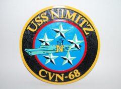 USS Nimitz CVN-68 Plaque