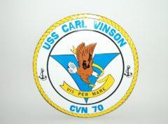 USS Carl Vinson (CVN-70) Plaque