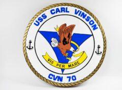 USS Carl Vinson CVN-70 Plaque