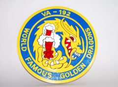 VA-192 World Famous Golden Dragons Plaque