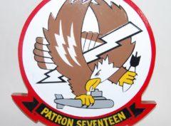 VP-17 White Lightnings Wood Plaque