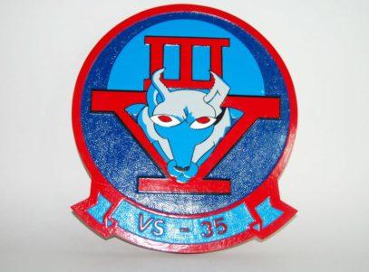 VS-35 Blue Wolves (Older logo) Plaque