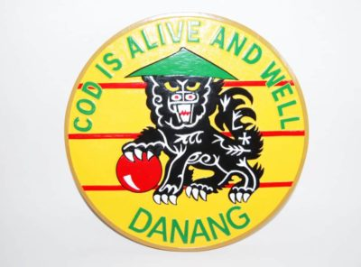"""VRC-50 Da Nang """"God is alive and well"""" Plaque"""