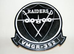 VMGR-352 Raiders Plaque