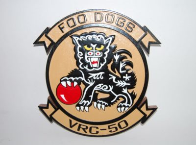 VRC-50 Foo Dogs (Gold) Plaque