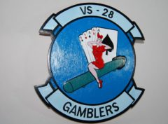 VS-28 Gamblers Plaque