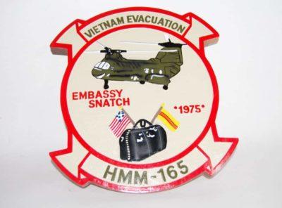 HMM-165 VIETNAM EVACUATION PLAQUE