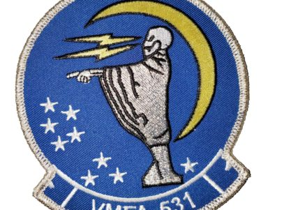 VMFA-531 Grey Ghosts Patch – Plastic Backing